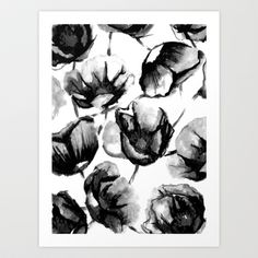 Buy Flora Black by Caitlin Workman as a high quality Art Print. Worldwide shipping available at Society6.com. Just one of millions of products available.