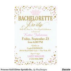 Princess Gold Glitter Sprinkle Bachelorette Party
