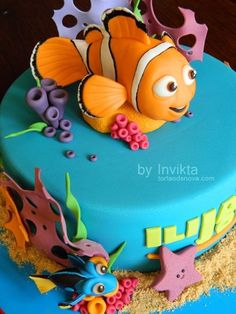 Yummy # Finding Nemo Birthday Cake