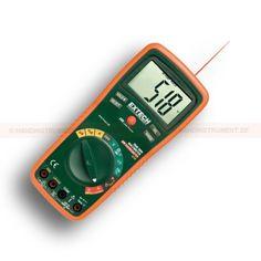 http://termometer.dk/multimeter-r13262/digitale-multimetre-r13263/digitalt-multimeter-trms-53-EX470-r13286  Digitalt multimeter, TRMS  Sand RMS DMM med 12 funktioner og 0,3% grundlæggende nøjagtighed  AC / DC spænding og strøm, modstand, kapacitans, frekvens, TypeK & IR Temperatur, Diode / Kontinuitet, Duty Cycle  Indbygget berøringsfri infrarød termometer med 08:01 afstanden til målet forholdet med 0,95 fast emissivitet  Input sikring og mis-tilslutning advarsel  20A max strøm...