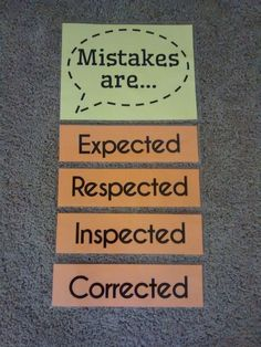 Growth Mindset Mistakes Poster