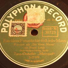 METROPOL  Eine Kleine Freundin hat doch jeder Mann  POLYPHON-RECORD 78rpm 10
