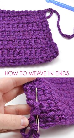 How to Weave In Ends with @allisongm