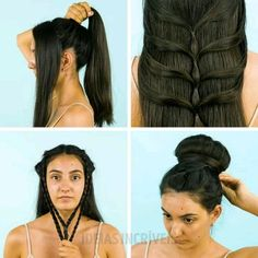"( ""Simply brilliant hairstyles for dirty hair. Easy Hairstyles For Long Hair, Braids For Long Hair, Braided Hairstyles, Amazing Hairstyles, Hairstyle Ideas, Long Hair Dos, Small Braids, Hairdos, Long Hair Styles"