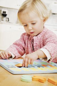 Children who have problems with puzzles and locating specific objects in the home or classroom benefit from pediatric occupational therapy.