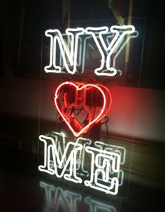 Share the love City Go To New York, New York Art, A New York Minute, New York Hotels, I Love Nyc, Neon Rainbow, I Love Heart, City That Never Sleeps, Neon Lighting