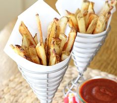 Crispy oven-baked french fries