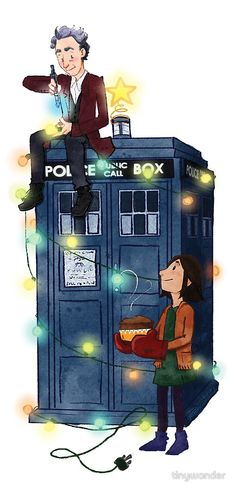 """Doctor Who - It's Christmas!"" by tinywonder Doctor Who - It's Christmas! by tinywonder Twelfth Doctor, 12th Doctor, Doctor Who Christmas, Michigan, Tv Doctors, Doctor Who Fan Art, Clara Oswald, Peter Capaldi, Bad Wolf"
