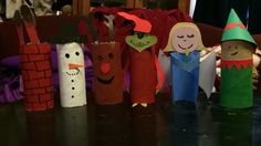 Toilet roll Christmas craft for kids. Easy to make, fun and funny.