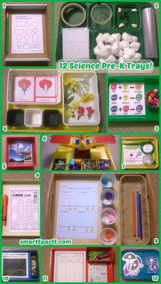 12 Science Vorschul-Tabletts Source by Science Center Preschool, Science Crafts, Kindergarten Science, Preschool Lessons, Science Experiments Kids, Preschool Classroom, Preschool Learning, Teaching Science, Science For Kids