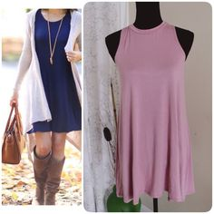 Cllast One Dust Pink Sleeveless Dress.