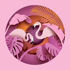 Find Two Flamingos Tropical Leaves Paper Cut stock images in HD and millions of other royalty-free stock photos, illustrations and vectors in the Shutterstock collection. 3d Paper Art, Paper Artwork, Paper Crafts, Paper Cutting Art, Foam Crafts, Free Vector Graphics, Free Vector Art, Kirigami, Paper Cut Design
