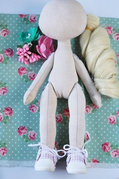 Set for textile doll An empty doll Set for creating dolls Doll sewing set Doll of cloth Blank doll Cloth for dolls Doll hair Make a doll Interior doll Ragdoll body Fabric doll Blanking dolls The kit includes a 1. blank doll of height 26 cm/10.2 in, made of cotton, filled non-allergic