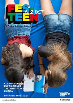 FESTeen. IV Festival de cultura joven de Madrid organizado por Matadero Madrid, celebra los días sábado 1 y domingo 2 de octubre su cuarta edición. La imagen del festival ha sido diseñada por dos alumnas del Título Superior en Diseño Gráfico.