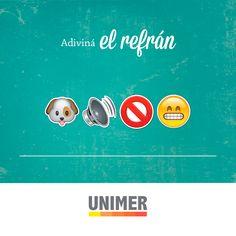 """""""Perro que ladra no muerde"""" #EmojiRefrán Happy, Sayings"""