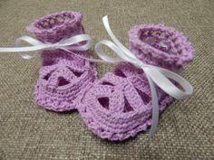 Zapatitos para Niña Crochet - YouTube