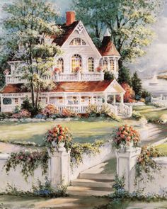 """Victorian Christmas"" by Thomas Kinkade Victorian Art, Victorian Christmas, Victorian Homes, Victorian Paintings, Pintura Colonial, Thomas Kinkade Art, Thomas Kinkade Christmas, Graffiti Kunst, Kinkade Paintings"
