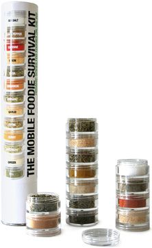 Use a bead storage container for spices. Trying this one for our trips!!
