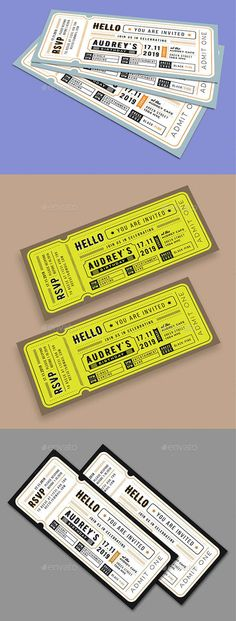 Birthday Invitation Ticket Card - Invitatioin Card - Ideas of Invitatioin Card - Birthday Invitation Ticket Card Invitation Ticket, Ticket Card, Invitation Card Birthday, Invitation Card Design, Invitation Cards, Birthday Cards, Invitation Ideas, Concert Ticket Template, Concert Tickets