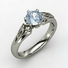 aquamarine ring, Celtic triqueta