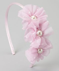 Another great find on #zulily! Light Pink Pearl Flower Cluster Headband #zulilyfinds