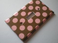 Pink and Brown Fleur De Lis Single Light by COUTURELIGHTPLATES, $4.95