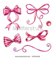 stock-photo-watercolor-holiday-red-ribbon-bow-illustration-festive-bunting-clip-art-birthday-party-design-497319436.jpg (450×470)