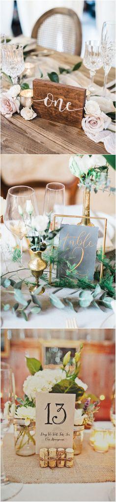trending wedding table number ideas