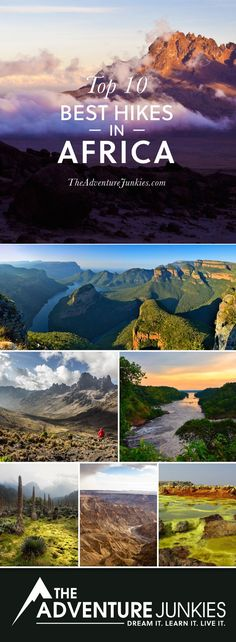 Top 10 Best Hikes in Africa - The Best Hikes in Africa – Best Hiking Trails – Hiking Bucket List – Beautiful Backpacking Places To Go On Vacation - Hiking Spots, Hiking Trails, Places To Travel, Places To Go, Travel Destinations, Africa Safari Lodge, Travel Around The World, Around The Worlds, Best Hikes