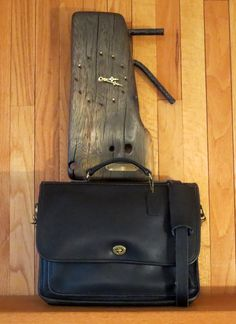 9f9c7b4eab57 Coach Colebrooke Letter Sized Black Leather Briefcase Attache Messenger Bag  Laptop IPad Carrier- Excellent Used
