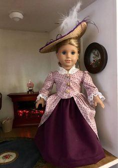 En Fourreau gown for 18 inch American Girl Dolls - shirlry - American Doll Clothes, Ag Doll Clothes, Doll Clothes Patterns, Clothing Patterns, American Dolls, Doll Patterns, Dress Patterns, Girl Dolls, Ag Dolls