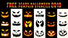 Free Printable Halloween Pumpkin Carving Stencils, Patterns, Designs, Faces & Ideas Source by Minion Pumpkin Carving, Disney Pumpkin Carving, Halloween Pumpkin Carving Stencils, Scary Halloween Pumpkins, Amazing Pumpkin Carving, Pumpkin Carving Templates, Halloween Costumes, Halloween Makeup, Zombie Makeup
