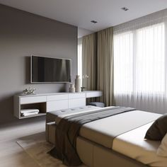 'Minimal Interior Design Inspiration' is a weekly showcase of some of the most perfectly minimal interior design examples that we've found around the web - all Hotel Room Design, Bedroom Design Trends, Minimalism Interior, Interior Design Bedroom, Modern Bedroom Design, Minimalist Bedroom Design, Bedroom Interior, Minimalist Bedroom, Modern Bedroom