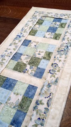 Quilted Table Runner floral table runner by WarmandCozyQuilts