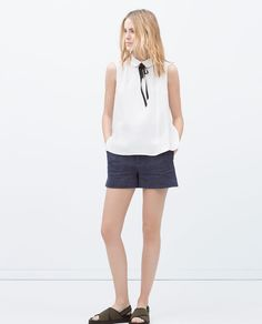 $49 TOP WITH CONTRASTING COLLAR from Zara