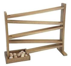 Amish Made Wooden Ball Roller Coaster Run, Here is a safer alternative to the old fashioned marble roller! This ball roller features wooden balls that are to big for small children to choke on. The Ball Roller is made by the Amish Folks at Lap. Amish Furniture, Kids Furniture, Wooden Furniture, Unfinished Furniture, Country Furniture, Office Furniture, Marble Race, Wooden Marble Run, Marble Toys