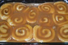 EASY Cinnamon Rolls with Caramel Sauce – food – – – Cinnamon Rolls Recipes – Rolls Recipes Carmel Recipe, Caramel Recipe For Caramel Rolls, Rhodes Caramel Rolls Recipe, Rhodes Cinnamon Rolls, Rhodes Rolls, Homemade Carmel Sauce, Carmel Rolls, Cinnamon Roll Frosting, Frozen Bread Dough