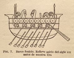 Barco Fenicio, del Siglo VII a C