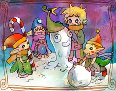 Minish Cap Christmas by *milkybee on deviantART