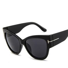 e725f67d96788 Small Cat Eye Fashion Women Sunglasses Flat Top Retro Vintage Clout Goggles