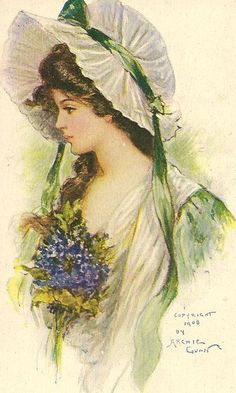 Image discovered by Find images and videos about vintage lady with flowers on We Heart It - the app to get lost in what you love. Éphémères Vintage, Vintage Ephemera, Vintage Girls, Vintage Beauty, Vintage Prints, Vintage Pictures, Vintage Images, Pretty Pictures, Etiquette Vintage