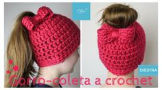 Gorro coleta a crochet | DIESTRA