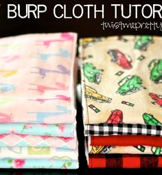 Favorite burp cloths hands down. They're made out of cloth diapers which are super absorbent. Add a little bit of flannel to them and they become super soft and so cute! I received a few of these from my shower and they are now the only ones I use. I also have some that my friend made for me where she just sewed two strips of ribbon down the front folds. I love those one too! Cloth diapers… who'd have thought?! You will need: A package of cloth diapers. They can be hard to find. You…