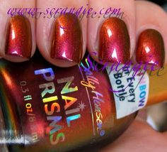 Scrangie: Sally Hansen Nail Prisms Amber Ruby