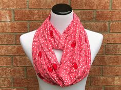 Womens Hearts Print Scarf Small Heart Love Simple Soft Long Fashion Shawl Wrap