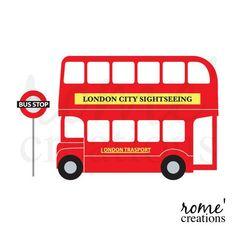 dibujo colorear autobus london - Buscar con Google