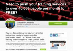 Need to push your training services to over 40,000 people per month for FREE?