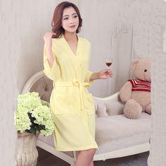 Women Plus Size Robes  Bathrobe Plus Size  Kimono Robe Female Bath Robe 533