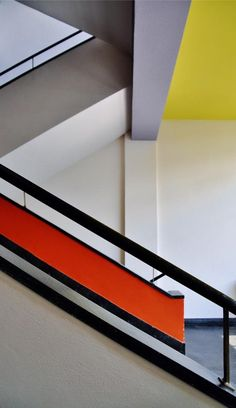 A #staircase at #Bauhaus #School of #Art and Design, #Dessau Germany.