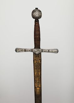 Blade signed by Clemens Horn (German, 1580–1630). Cross Hilt Sword, 600–1625. The Metropolitan Museum of Art, New York. Purchase, Arthur Ochs Sulzberger Gift, 2010 (2010.165) #sword